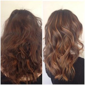 Hair waves and color
